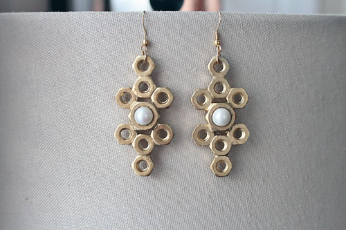 diy hexnut jewelry