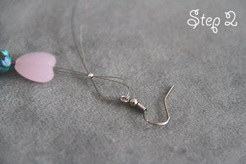 Heart shaped earrings DIY